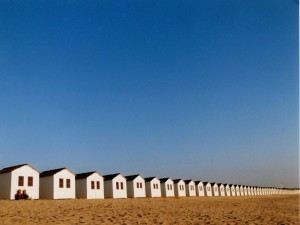 Postal: Cabañas de playa