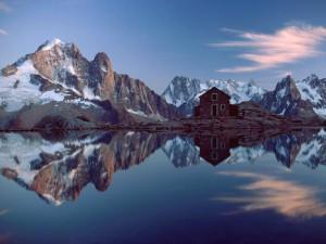 Cabaña en los Alpes franceses