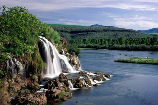 Fall Creek Falls y el Río Snake (Idaho)