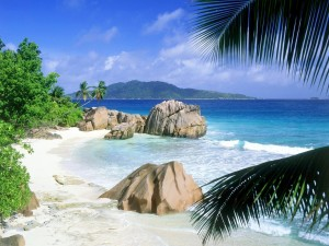 Una playa en La Digue (Seychelles)