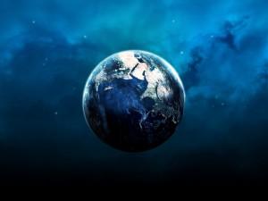 La Tierra flotando en el Universo