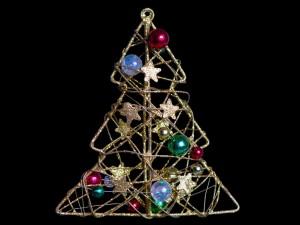 Arbolito de Navidad hecho con alambre