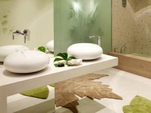 Postal: Un cuarto de baño de estilo moderno