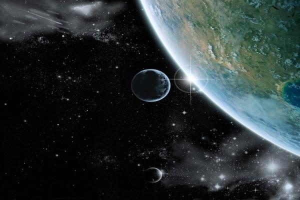 La Tierra tocando el Universo