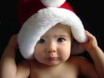 Bebé con gorro de Papá Noel