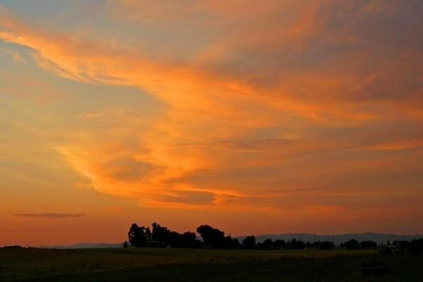Cielo anaranjado