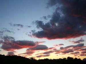 Postal: Colores en el cielo