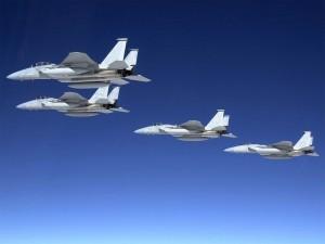 Postal: Cazas tácticos F-15 Eagle