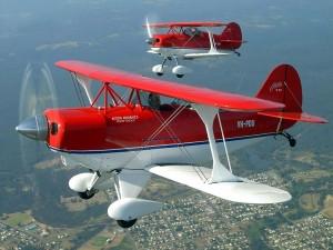 Postal: Aviones acrobáticos Pitts Special