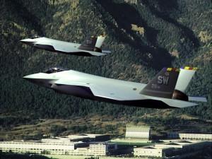Dos cazas F-35 Lightning II