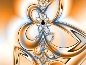 Flor dibujada con fractales