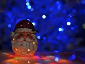 Papá Noel iluminado