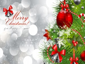 Postal: ¡Feliz Navidad! y un ¡Feliz Año Nuevo!