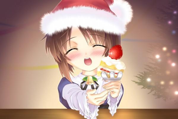 Souseiseki (Rozen Maiden) vestida para Navidad