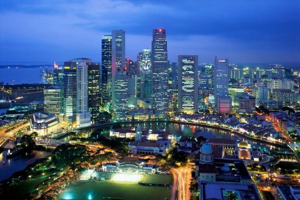 Vista aérea de Singapur