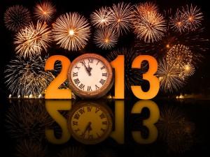 A punto de llegar el nuevo año 2013