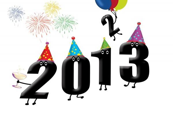 El 2 se va y llega el 3... ¡Feliz 2013!