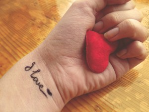Postal: Amor en la piel