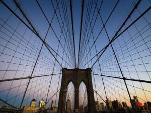 Postal: Así se sostiene el Puente de Brooklyn, en Nueva York