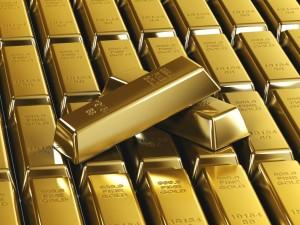 Postal: Lingotes de oro