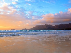 Postal: A ras de suelo en la playa