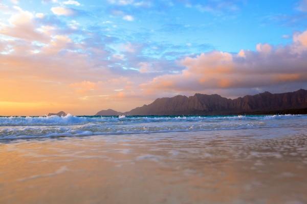 A ras de suelo en la playa