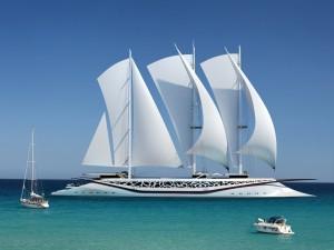 Yate de vela fenicio, diseño de Igor Lobanov