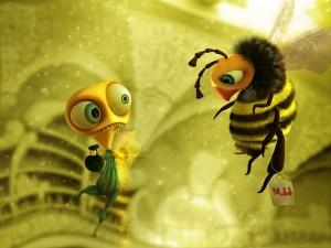 Humor entre abejas