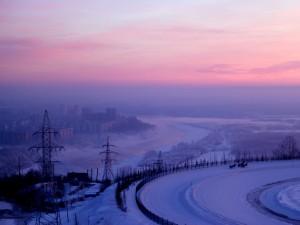 Una ciudad nevada