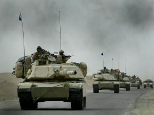 Caravana de tanques en la Guerra de Irak