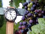 Uvas y un reloj