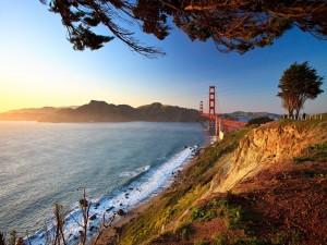 Postal: Un día tranquilo cerca del Golden Gate, en San Francisco