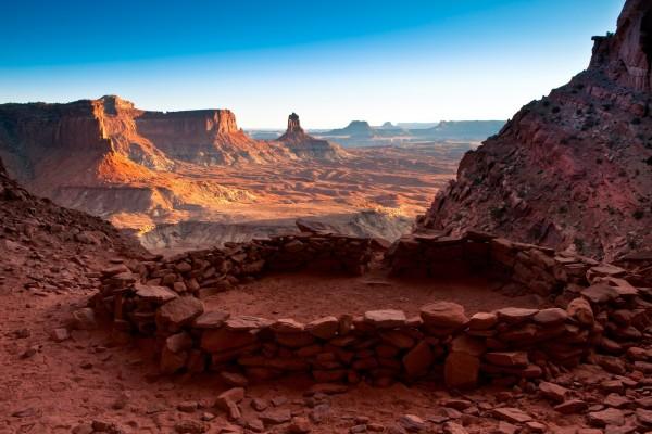 Falso Kiva en el Parque Nacional Canyonlands (Utah)