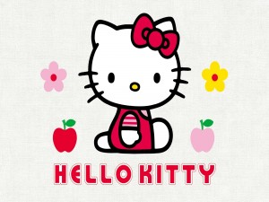 La gata blanca de Hello Kitty