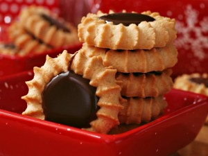 Postal: Galletas con chocolate