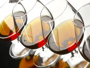 Postal: Copas de cognac