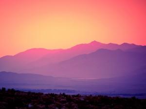 Puesta de sol en Lone Pine, California