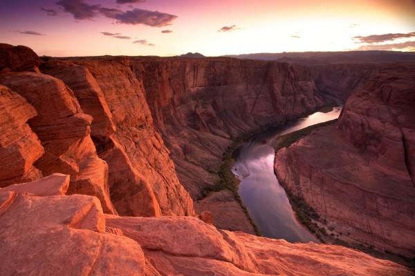 El río Colorado a su paso por la Curva de la Herradura (Cañón de Glen, Arizona)