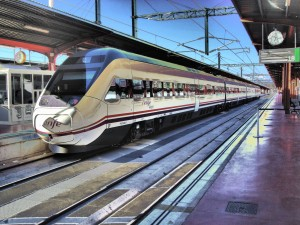 Tren Avant (Renfe) en la estación de Chamartín (Madrid)