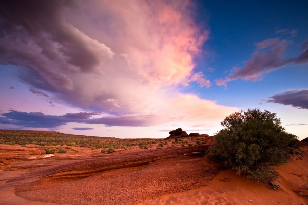 Nubes sobre Glen Canyon, Arizona