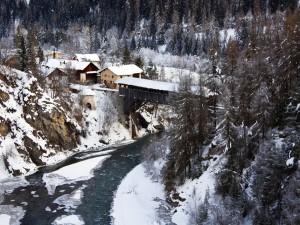 Invierno en los Alpes