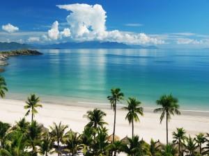 Postal: Playa paradisíaca en Vietnam