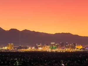 Postal: Noche en Las Vegas, Nevada