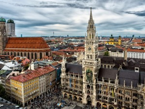 Postal: El Nuevo Ayuntamiento de Múnich (Alemania)