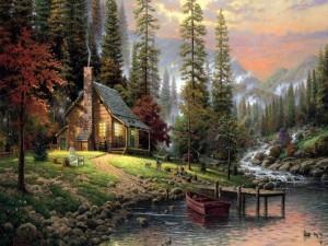 Paisaje del pintor Thomas Kinkade
