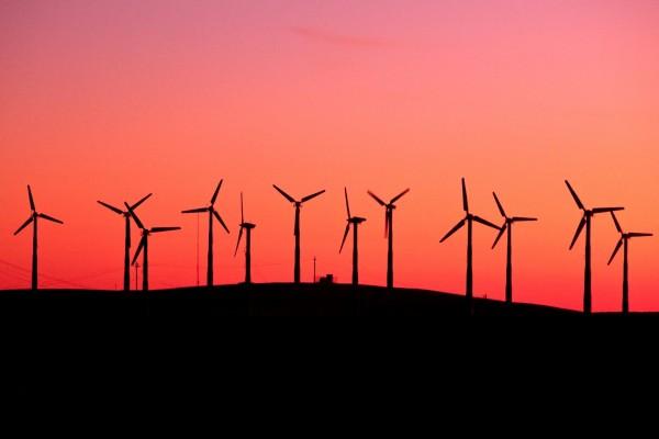Molinos de viento en Livermore, California
