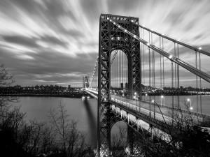 Postal: El Puente George Washington desde el lado de Nueva Jersey