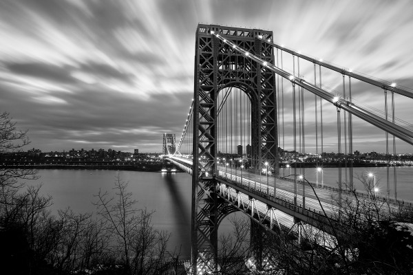 El Puente George Washington desde el lado de Nueva Jersey