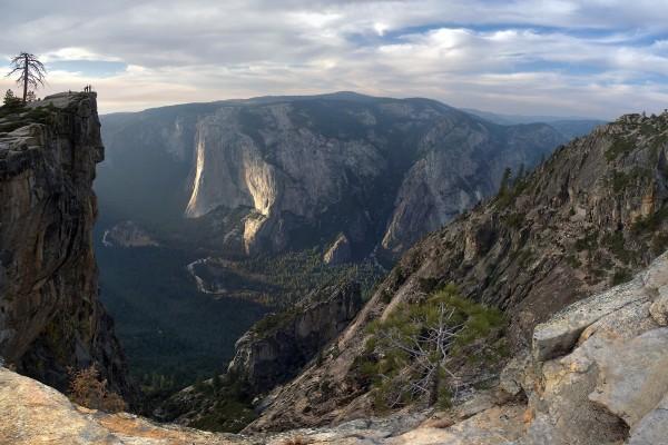Taft Point, un mirador en el Parque Nacional Yosemite (California)