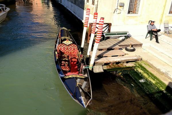 Una góndola de lujo en Venecia